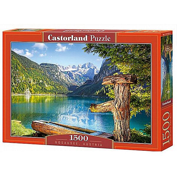 Пазл Castorland Озеро, Австрия 1500 деталейПазлы классические<br>Характеристики товара:<br><br>• возраст: от 9 лет;<br>• количество деталей: 1500 шт;<br>• материал: картон;<br>• размер упаковки: 35х25х5,2 см;<br>• размер картины: 68х47 см;<br>• вес упаковки: 600 гр.;<br>• страна производитель: Польша.<br><br>Пазл Castorland (Касторлэнд) Озеро, Австрия – это отличный способ увлекательно провести досуг, снять стресс и развить моторику.<br><br>Качество этих пазлов подтверждено миллионами любителей сборки пазлов. Пазлы Castorland собираются легко. Каждая деталь имеет индивидуальную форму и легко соединяется с другой, поэтому у Вас обязательно получится ожидаемый результат - картина собранная собственными руками.<br><br>Пазл Castorland (Касторлэнд) Озеро, Австрия можно купить в нашем интернет-магазине.<br>Ширина мм: 350; Глубина мм: 250; Высота мм: 50; Вес г: 600; Возраст от месяцев: 144; Возраст до месяцев: 2147483647; Пол: Унисекс; Возраст: Детский; SKU: 7590969;