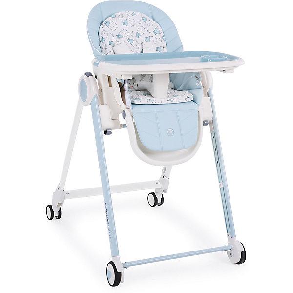Стульчик для кормления Happy Baby Berny, голубойСтульчики для кормления<br>ХАРАКТЕРИСТИКИ<br>Габариты в разложенном виде: 80х59х103<br>Габариты в сложенном виде: 39х59х119<br>Двухсторонняя мягкая вкладка (гладкая и махровая стороны)<br>Задние поворотные колёса добавляют маневренности<br>Крючок для складывания подноса<br>Тормозной механизм на задних колёсах<br>СОСТАВ<br>Каркас: пластик, металл<br>Тканые материалы: чехол 100% полиуретан, мягкая вкладка 100% полиэстер<br>ИНСТРУКЦИЯ ПО УХОДУ<br>ОПИСАНИЕ<br>Стульчик для кормления BERNY – мечта любого малыша и его родителей. Прочная рама обеспечивает максимальную надежность стульчика, а мягкая вкладка с гладкой и махровой сторонами обеспечит малышу наиболее комфортный отдых.<br>Стульчик для кормления BERNY HBтм разработан специально для максимального комфорта, как для малыша, так и для родителей. Современное концептуальное звучание формы, материалов и цветовое исполнение гарантирует превосходную адаптацию стульчика в интерьере вашей кухни. Прочная рама обеспечивает максимальную надежность стульчика и выдерживает вес ребенка до 25 кг, что позволяет использовать стульчик для крупных малышей. Четыре колеса со специальным резиновым покрытием позволяют перемещать стульчик по кухне без усилий и не оставляя следов, а особая форма колес гарантирует их долгий срок службы. <br>Созданный на высокотехнологичном производстве, стульчик BERNY не имеет острых углов, что вместе с пятиточечными ремнями безопасности обеспечивает максимальную безопасность для ребенка. Столешница стульчика надевается одной рукой и имеет 3 положения по глубине, а съемный поднос можно мыть в посудомоечной машине. Стульчик имеет 5 положений по высоте, 3 положения наклона спинки, включая горизонтальное, позволяющее использовать стульчик, как шезлонг, а также 3 положения наклона подножки. Двусторонняя мягкая вкладка в стильном дизайне обеспечит малышу наиболее комфортный отдых. Чехол стульчика прост в уходе и легко моется, а благодаря качественной отстрочке, повто