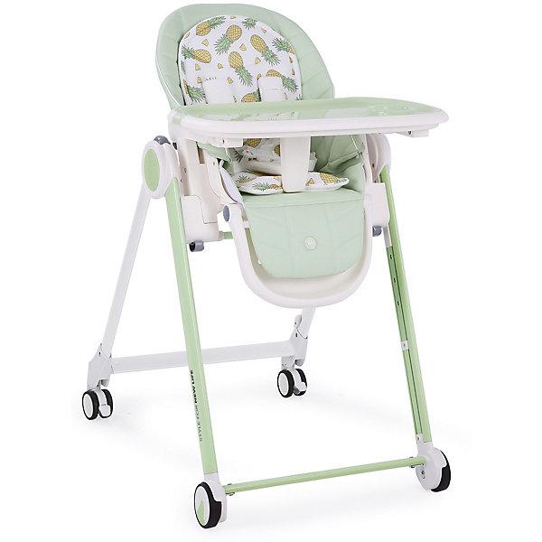 Стульчик для кормления Happy Baby Berny, зелёныйСтульчики для кормления<br>ХАРАКТЕРИСТИКИ<br>Габариты в разложенном виде: 80х59х103<br>Габариты в сложенном виде: 39х59х119<br>Двухсторонняя мягкая вкладка (гладкая и махровая стороны)<br>Задние поворотные колёса добавляют маневренности<br>Крючок для складывания подноса<br>Тормозной механизм на задних колёсах<br>СОСТАВ<br>Каркас: пластик, металл<br>Тканые материалы: чехол 100% полиуретан, мягкая вкладка 100% полиэстер<br>ИНСТРУКЦИЯ ПО УХОДУ<br>ОПИСАНИЕ<br>Стульчик для кормления BERNY – мечта любого малыша и его родителей. Прочная рама обеспечивает максимальную надежность стульчика, а мягкая вкладка с гладкой и махровой сторонами обеспечит малышу наиболее комфортный отдых.<br>Стульчик для кормления BERNY HBтм разработан специально для максимального комфорта, как для малыша, так и для родителей. Современное концептуальное звучание формы, материалов и цветовое исполнение гарантирует превосходную адаптацию стульчика в интерьере вашей кухни. Прочная рама обеспечивает максимальную надежность стульчика и выдерживает вес ребенка до 25 кг, что позволяет использовать стульчик для крупных малышей. Четыре колеса со специальным резиновым покрытием позволяют перемещать стульчик по кухне без усилий и не оставляя следов, а особая форма колес гарантирует их долгий срок службы. <br>Созданный на высокотехнологичном производстве, стульчик BERNY не имеет острых углов, что вместе с пятиточечными ремнями безопасности обеспечивает максимальную безопасность для ребенка. Столешница стульчика надевается одной рукой и имеет 3 положения по глубине, а съемный поднос можно мыть в посудомоечной машине. Стульчик имеет 5 положений по высоте, 3 положения наклона спинки, включая горизонтальное, позволяющее использовать стульчик, как шезлонг, а также 3 положения наклона подножки. Двусторонняя мягкая вкладка в стильном дизайне обеспечит малышу наиболее комфортный отдых. Чехол стульчика прост в уходе и легко моется, а благодаря качественной отстрочке, повто