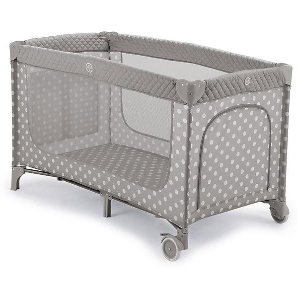 Кровать-манеж Happy Baby Martin, серыйДетские кроватки<br>ХАРАКТЕРИСТИКИ<br>Габариты в сложенном виде ДхШхВ: 21х22х80 см<br>Габариты в разложенном виде ДхШхВ: 128х71х76 см<br>Боковой игровой лаз на молнии<br>Боковой карман для мелочей<br>Атравматичные накладки<br>2 колеса для удобства перемещения<br>В комплекте: сумка-переноска, второе дно<br>СОСТАВ<br>Каркас: пластик, металл<br>Тканые материалы: 100 % полиэстер<br>ИНСТРУКЦИЯ ПО УХОДУ<br>Каркас:<br>периодически очищайте пластиковые части влажной тканью. Не пользуйтесь растворителями и схожими веществами.<br>Тканые материалы:<br>протирайте влажной губкой с мыльным раствором, не пользуйтесь моющими средствами. Не выкручивайте, не отбеливайте, не сушите в стиральной машине, не гладьте.<br>ОПИСАНИЕ<br>Элегантный манеж MARTIN, легко превращающийся в комфортабельную кроватку. Выполнен из современных, легких материалов. Ткань приятна на ощупь и удобна в эксплуатации. Большие окна обеспечивают вентиляцию, прекрасное освещение и позволяют хорошо видеть малыша, когда он спит или играет. Колесики делают удобным перемещение манежа-кроватки по дому. Все углы и опасные для ребенка поверхности защищены специальными атравматичными накладками. В комплектацию входит съемный жесткий матрасик, дополнительный второй уровень, а для активных малышей предусмотрен лаз.<br><br>Ширина мм: 210<br>Глубина мм: 220<br>Высота мм: 795<br>Вес г: 11300<br>Цвет: серый<br>Возраст от месяцев: 0<br>Возраст до месяцев: 36<br>Пол: Унисекс<br>Возраст: Детский<br>SKU: 7620022