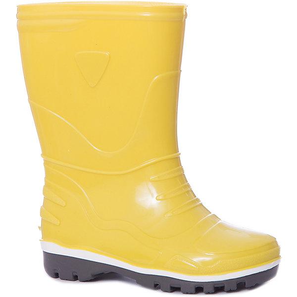 Резиновые сапоги NordmanРезиновые сапоги<br>Характеристики товара:<br><br>• цвет: желтый;<br>• модель: Step;<br>• сезон: демисезон;<br>• материал верха: ПВХ;<br>• без утеплителя;<br>• подошва не скользит;<br>• температурный режим: от +10° до +20° С;<br>• толстая устойчивая подошва;<br>• страна бренда: Российская Федерация.<br><br>Обувь Nordman - это качественные российские товары, произведенные с применением как натуральных, так и высокотехнологичных материалов. Резиновые сапоги Nordman без утеплителя выполнены из непромокаемого материала Эва, который защищает от дождя и слякоти.<br><br>Толстая подошва отлично защищает ножки от намокания и от холода. Сделаны сапожки из ПВХ. Это эластичный, блестящий материал повышенной стойкости. Ему неподвластно истирание, он устойчив к внешним воздействиям.<br><br>Сапоги резиновые от бренда Nordman можно купить в нашем интернет-магазине.<br>Ширина мм: 237; Глубина мм: 180; Высота мм: 152; Вес г: 438; Цвет: желтый; Возраст от месяцев: 15; Возраст до месяцев: 18; Пол: Унисекс; Возраст: Детский; Размер: 22,35,34,33,32,30,31,29,28,27,26,25,24,23; SKU: 7625064;