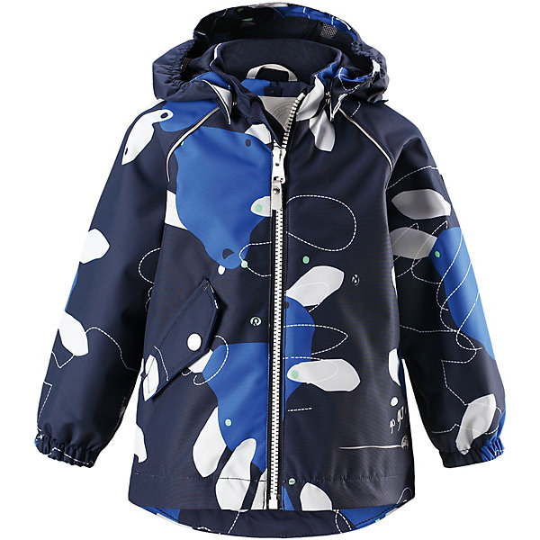 Куртка Forest ReimaОдежда<br>Характеристики товара:<br><br>• цвет: синий принт;<br>• состав: 100% полиамид, полиуретановое покрытие;<br>• подкладка: 100% полиэстер;<br>• без дополнительного утепления;<br>• сезон: демисезон;<br>• температурный режим: от +5° до +15°С;<br>• водонепроницаемость: 15000 мм;<br>• воздухопроницаемость: 7000 мм;<br>• износостойкость: 40000 циклов (тест Мартиндейла);<br>• застёжка: молния с защитой подбородка;<br>• водо- и ветронепроницаемый, «дышащий» и грязеотталкивающий материал;<br>• водо- и грязеотталкивающая пропитка без содержания фторуглеродов BIONIC-FINISH®ECO;<br>• все швы проклеены и водонепроницаемы;<br>• гладкая подкладка из полиэстера;<br>• безопасный, съёмный капюшон;<br>• эластичные манжеты на рукавах;<br>• регулируемый подол;<br>• карман на кнопке;<br>• светоотражающие детали;<br>• страна бренда: Финляндия.<br><br>Куртка Reimatec® станет отличным выбором на весну и осень. Все швы в этой куртке герметично запаяны, а сама она сшита из водо- и ветронепроницаемой и к тому же грязеотталкивающей ткани. <br><br>Съемный капюшон обеспечит безопасность на прогулке, а регулируемый подол поможет подогнать куртку по фигуре. А в небольших карманах все найденные драгоценные камешки и шишки будут в целости и сохранности.<br><br>Куртку Reima от финского бренда Reima (Рейма) можно купить в нашем интернет-магазине.<br>Ширина мм: 356; Глубина мм: 10; Высота мм: 245; Вес г: 519; Цвет: синий; Возраст от месяцев: 24; Возраст до месяцев: 36; Пол: Унисекс; Возраст: Детский; Размер: 98,80,86,92; SKU: 7628293;