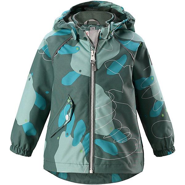 Куртка  ReimaОдежда<br>Куртка  Reima <br>Куртка Reimatec® станет отличным выбором на весну и осень. Все швы в этой куртке герметично запаяны, а сама она сшита из водо- и ветронепроницаемой и к тому же грязеотталкивающей ткани. Съемный капюшон обеспечит безопасность на прогулке, а регулируемый подол поможет подогнать куртку по фигуре. А в небольших карманах все найденные драгоценные камешки и шишки будут в целости и сохранности.<br>Состав:<br>100% Полиэстер, полиуретановое покрытие<br>Ширина мм: 356; Глубина мм: 10; Высота мм: 245; Вес г: 519; Цвет: зеленый; Возраст от месяцев: 12; Возраст до месяцев: 15; Пол: Унисекс; Возраст: Детский; Размер: 80,98,92,86; SKU: 7628298;
