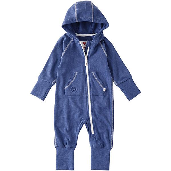 Комбинезон ReimaКомбинезоны<br>Комбинезон Reima <br>Мягкий и удобный комбинезон для младенцев сшит из жаккардового футера. Широкая резинка на манжетах предусматривает место на вырост, а длинная застежка на молнии облегчает одевание. Что вам больше нравится: милый горошек или стильный деним? Подсказка от Reima: Отличная идея для подарка.<br>Состав:<br>96% Хлопок, 4% Полиэстер<br>Ширина мм: 356; Глубина мм: 10; Высота мм: 245; Вес г: 519; Цвет: синий; Возраст от месяцев: 0; Возраст до месяцев: 3; Пол: Унисекс; Возраст: Детский; Размер: 50,74,62; SKU: 7628376;
