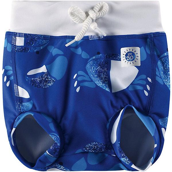 Плавки ReimaКупальники и плавки<br>Плавки Reima <br>Для веселого и беззаботного купания новорожденных и малышей мы настоятельно рекомендуем эти «узорчатые» подгузники!  Эти подгузники для купания из материала SunProof с УФ-фильтром 50+ обеспечивают эффективную защиту от вредных солнечных лучей. Подходят как для бассейна, так и для пляжа. Плотная посадка по ногам и на поясе вместе с непромокаемой подкладкой оградят от неприятных сюрпризов. Эластичный пояс можно регулировать для большего удобства и хорошей подгонки по фигуре.<br>Состав:<br>80% Полиамид, 20% эластан<br>Ширина мм: 183; Глубина мм: 60; Высота мм: 135; Вес г: 119; Цвет: синий; Возраст от месяцев: 2; Возраст до месяцев: 5; Пол: Унисекс; Возраст: Детский; Размер: 62,74,86; SKU: 7628473;
