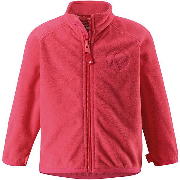 Флисовая кофта Nuoto ReimaТолстовки<br>Характеристики товара:<br><br>• цвет: розовый;<br>• состав: 100% полиэстер, флис;<br>• сезон: демисезон;<br>• застёжка: молния с защитой подбородка;<br>• флисовая куртка для малышей;<br>• выводит влагу наружу;<br>• тёплый, лёгкий и быстросохнущий флис;<br>• может пристегиваться к верхней одежде Reima® кнопками Play Layers®;<br>• эластичные манжеты и подол;<br>• страна бренда: Финляндия.<br><br>Эту флисовую куртку для малышей можно использовать и в качестве промежуточного слоя, и как верхнюю одежду для прогулок в погожий день. Обратите внимание на удобную систему кнопок Play Layers®, с помощью которой легко присоединить эту куртку к разной верхней одежде из серии Reima® Play Layers и обеспечить ребенку дополнительное тепло и комфорт. <br><br>Куртка изготовлена из высококачественного полярного флиса, поэтому она теплая, легкая и быстро сохнет. Удлиненная спинка обеспечивает дополнительную защиту для поясницы, а молния во всю длину превращает одевание в легкий и веселый процесс!<br><br>Флисовую кофту Reima от финского бренда Reima (Рейма) можно купить в нашем интернет-магазине.<br>Ширина мм: 219; Глубина мм: 11; Высота мм: 262; Вес г: 314; Цвет: красный; Возраст от месяцев: 12; Возраст до месяцев: 15; Пол: Унисекс; Возраст: Детский; Размер: 80,98,92,86; SKU: 7628481;