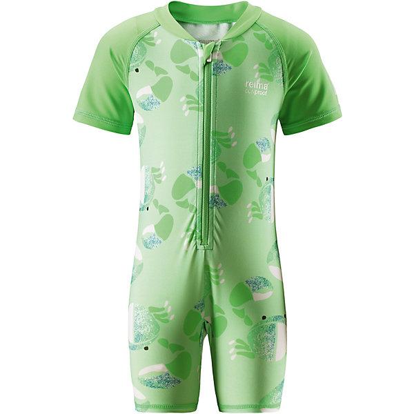 Купальный костюм Odessa ReimaОдежда<br>Характеристики товара:<br><br>• цвет: зелёный;<br>• состав: 80% Полиамид, 20% эластан;<br>• сезон: лето;<br>• застёжка: молния с защитой подбородка;<br>• купальный комбинезон для малышей SunProof;<br>• рукава до локтей и штанины до колен;<br>• фактор защиты от ультрафиолета 50+;<br>• Reima SunProof®;<br>• легко надевать благодаря молнии;<br>• полуавтоматическая застежка на молнии, защищающая от случайного открытия<br>• принт по всей поверхности;<br>• страна бренда: Финляндия.<br><br>Купальный костюм для малышей из материала SunProof позволит весело поплескаться на солнце. Купальный костюм обеспечивает эффективную защиту вплоть до локтей и запястий от вредных солнечных лучей благодаря УФ-фильтру 50+! Эластичный материал быстро сохнет, а молния по всей длине спереди облегчает процесс одевания.<br><br>Купальный костюм Reima от финского бренда Reima (Рейма) можно купить в нашем интернет-магазине.<br>Ширина мм: 183; Глубина мм: 60; Высота мм: 135; Вес г: 119; Цвет: зеленый; Возраст от месяцев: 6; Возраст до месяцев: 9; Пол: Унисекс; Возраст: Детский; Размер: 98,92,86,80,74; SKU: 7628626;