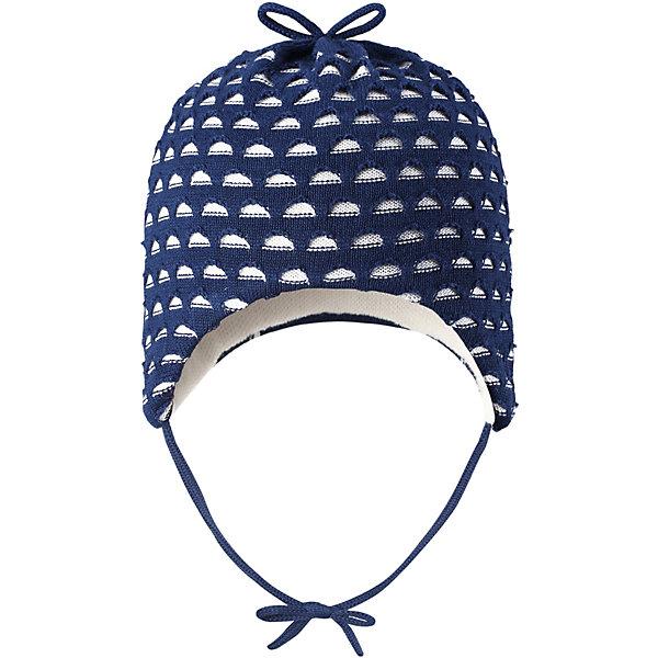 Шапка Tiainen ReimaШапки и шарфы<br>Характеристики товара:<br><br>• цвет: синий;<br>• состав: 50% лиоцелл, 50% хлопок;<br>• подкладка: хлопковый трикотаж;<br>• без дополнительного утепления;<br>• сезон: демисезон;<br>• температурный режим: от +5 до +15С;<br>• застёжка: шапка на завязках;<br>• сплошная подкладка: хлопчатобумажная ткань;<br>• декоративный узор;<br>• страна бренда: Финляндия.<br><br>Разве одежда для новорожденных может быть слишком мягкой Эта очаровательная шапочка сшита из простого в уходе и шелковистого на ощупь материала. Мы смешали хлопок с экологичным волокном тенсель и получили натуральный материал, который стал воплощением самой мягкости. Полная подкладка из хлопкового трикотажа обеспечивает комфорт нежной детской коже, завязки не дают шапке спадать.<br><br>Шапку Reima от финского бренда Reima (Рейма) можно купить в нашем интернет-магазине.<br>Ширина мм: 89; Глубина мм: 117; Высота мм: 44; Вес г: 155; Цвет: синий; Возраст от месяцев: 3; Возраст до месяцев: 6; Пол: Унисекс; Возраст: Детский; Размер: 36,48,44,40; SKU: 7628759;