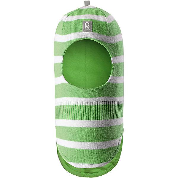 Шапка Honka ReimaШапки и шарфы<br>Шапка Reima <br>Классическая детская шапка-шлем – незаменимый аксессуар, ведь она согревает не только голову, но и шею. Эта шапка-шлем сшита из эластичного и дышащего хлопкового трикотажа на подкладке из гладкого хлопкового джерси. Новые свежие весенние расцветки! Изделие сертифицировано по стандарту Oeko-Tex.<br>Состав:<br>100% Хлопок<br>Ширина мм: 89; Глубина мм: 117; Высота мм: 44; Вес г: 155; Цвет: зеленый; Возраст от месяцев: 60; Возраст до месяцев: 72; Пол: Унисекс; Возраст: Детский; Размер: 52,46,48,50; SKU: 7628877;