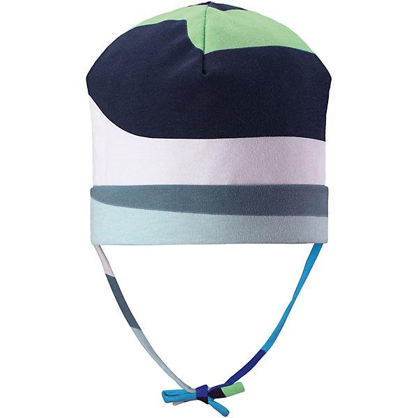 Шапка Huvi ReimaШапки и шарфы<br>Шапка Reima <br>Полухлопковая шапка для малышей с подкладкой и ветронепроницаемыми вставками согреет голову вашего крохи в весеннюю пору. Она сшита из эластичного, влагоотводящего и быстросохнущего материала. Выбирай любимую расцветку из свежих цветов и рисунков этого сезона!<br>Состав:<br>56% Хлопок, 37% полиэстер, 7% эластан<br>Ширина мм: 89; Глубина мм: 117; Высота мм: 44; Вес г: 155; Цвет: синий; Возраст от месяцев: 9; Возраст до месяцев: 12; Пол: Унисекс; Возраст: Детский; Размер: 48,52,44; SKU: 7628899;