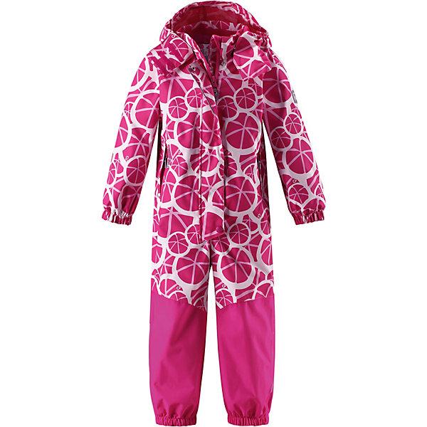 Комбинезон Tuuli Reima для девочкиОдежда<br>Характеристики товара:<br><br>• цвет: розовый;<br>• состав: 100% полиамид, полиуретановое покрытие;<br>• подкладка: 100% полиэстер;<br>• без дополнительного утепления;<br>• сезон: демисезон;<br>• температурный режим: от +5° до +15°С;<br>• водонепроницаемость: 15000/12000 мм;<br>• воздухопроницаемость: 7000/8000 мм;<br>• износостойкость: 40000/80000 циклов (тест Мартиндейла);<br>• застёжка: молния с защитой подбородка;<br>• все швы проклеены и не пропускают влагу;<br>• водо- и ветронепроницаемый, «дышащий» и грязеотталкивающий материал;<br>• водо- и грязеотталкивающая пропитка без содержания фторуглеродов BIONIC-FINISH®ECO<br>• очень прочный материал в нижней части изделия, внутренние швы отсутствуют;<br>• сетчатая подкладка вдоль тела, гладкая подкладка из полиэстера на рукавах и брючинах;<br>• безопасный съёмный и регулируемый капюшон;<br>• эластичные манжеты на рукавах и брючинах;<br>• внутренняя регулировка обхвата талии;<br>• карман со специальными креплениями для сенсора ReimaGO® в моделях 104 размера и более;<br>• два кармана на молнии;<br>• силиконовые штрипки;<br>• светоотражающие детали;<br>• страна бренда: Финляндия.<br><br>Демисезонный комбинезон Reimatec® изготовлен из прочного, но при этом мягкого и дышащего материала Reimatec®. Этот комбинезон для самых подвижных детей – ветронепроницаемый, грязеотталкивающий и абсолютно водонепроницаемый, ведь все швы в нем проклеены. Эта модель для девочек снабжена удобной сетчатой подкладкой и завязками на талии. <br><br>Нижняя часть сшита из невероятно прочного материала и без внутренних швов на концах брючин, так что ноги не намокнут. Прочные силиконовые штрипки на дают концам брючин забиваться под обувь – даже если комбинезон еще слегка великоват. Невероятно удобный, практичный и прочный комбинезон для любых занятий на свежем воздухе – играй сколько хочешь!<br><br>Комбинезон Reima от финского бренда Reima (Рейма) можно купить в нашем интернет-магазине.<br>Ширина мм: 356