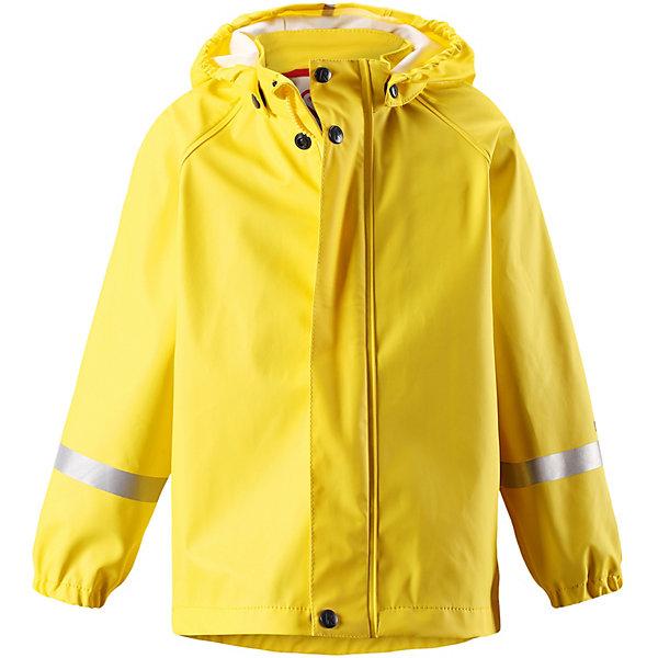 Куртка-дождевик Lampi ReimaОдежда<br>Плащ Reima <br>Детская популярная куртка-дождевик Lampi стильно смотрится и гарантирует, что плечи останутся сухими. Эластичный материал не деревенеет на морозе, поэтому этот дождевик можно носить круглый год – просто добавьте в холодную погоду теплый промежуточный слой. Съемный капюшон защитит даже от ливня, при этом он безопасен во время прогулок в дождливый день. В туманный день или в темное время суток светоотражатели будут просто незаменимы. Материал сертифицирован по стандарту Oeko-Tex и не содержит ПВХ. Разве бывает что-то веселее, чем бегать под дождем – и при этом не мокнуть? <br>Состав:<br>100% Полиэстер, полиуретановое покрытие<br>Ширина мм: 356; Глубина мм: 10; Высота мм: 245; Вес г: 519; Цвет: желтый; Возраст от месяцев: 12; Возраст до месяцев: 18; Пол: Унисекс; Возраст: Детский; Размер: 86,152,146,140,134,128,122,116,110,104,98,92; SKU: 7629086;