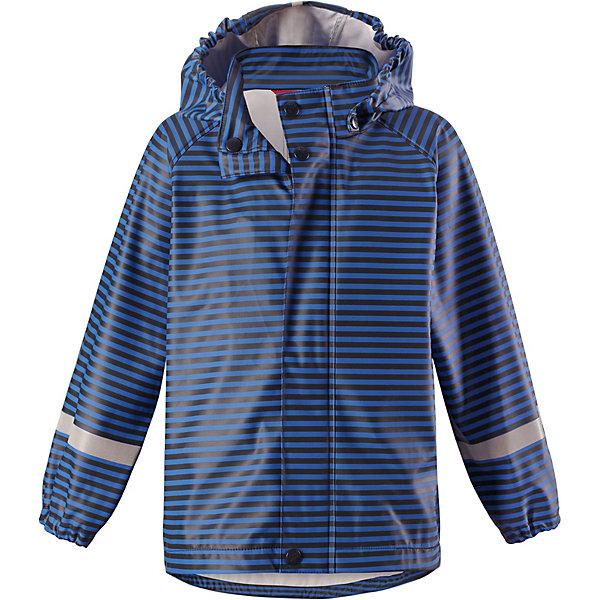 Куртка-дождевик Vesi ReimaОдежда<br>Плащ Reima <br>Детская куртка-дождевик изготовлена из удобного, эластичного материала, не содержащего ПВХ. Швы запаяны и абсолютно водонепроницаемы. Куртка-дождевик не деревенеет на морозе, поэтому ее можно носить круглый год – просто добавьте в холодную погоду теплый промежуточный слой. Съемный капюшон защитит даже от ливня, при этом он безопасен во время прогулок в дождливый день. Молния спереди во всю длину и множество светоотражающих деталей. Сочетайте куртку с брюками для дождя Reima® и вы заметите – в дождь играть еще веселее!<br>Состав:<br>100% Полиэстер, полиуретановое покрытие<br>Ширина мм: 356; Глубина мм: 10; Высота мм: 245; Вес г: 519; Цвет: синий; Возраст от месяцев: 12; Возраст до месяцев: 18; Пол: Унисекс; Возраст: Детский; Размер: 86,140,134,122,116,110,104,98,92,128; SKU: 7632332;