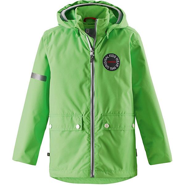 Куртка Taag Reimatec® ReimaОдежда<br>Характеристики товара:<br><br>• цвет: зелёный;<br>• состав: 100% полиамид, полиуретановое покрытие;<br>• подкладка: 100% полиэстер;<br>• без дополнительного утепления;<br>• сезон: демисезон;<br>• температурный режим: от +5° до +15°С;<br>• водонепроницаемость: 8000 мм;<br>• воздухопроницаемость: 7000 мм;<br>• износостойкость: 30000 циклов (тест Мартиндейла);<br>• застёжка: молния с защитой подбородка;<br>• водо- и ветронепроницаемый, «дышащий» и грязеотталкивающий материал;<br>• водо- и грязеотталкивающая пропитка без содержания фторуглеродов BIONIC-FINISH®ECO;<br>• основные швы проклеены и водонепроницаемы;<br>• внутренняя отстёгивающаяся жилетка;<br>• гладкая подкладка из полиэстера;<br>• безопасный, съёмный капюшон;<br>• мягкая резинка на кромке капюшона и манжетах;<br>• регулируемый подол;<br>• карман со специальными креплениями для сенсора ReimaGO® в моделях 104 размера и более;<br>• два кармана на кнопках;<br>• светоотражающие детали;<br>• страна бренда: Финляндия.<br><br>В детской демисезонной куртке с рисунком, посвященным юбилею Reima®, дождь не страшен – все основные швы проклеены, водонепроницаемы. Куртка со съемной стеганой подкладкой – незаменимая вещь для осенней поры, а когда похолодает, просто подденьте теплый промежуточный слой, и куртка превратится в отличный зимний наряд. <br>Подол в этой ретро-куртке прямого покроя легко регулируется, что позволяет подогнать куртку идеально по фигуре. Большие карманы с клапанами и светоотражающие детали выполнены в ретро-стиле 70-х, вместе с мягкой резинкой на манжетах и по краю капюшона они придают образу изюминку.<br><br>Куртку Reima от финского бренда Reima (Рейма) можно купить в нашем интернет-магазине.<br>Ширина мм: 356; Глубина мм: 10; Высота мм: 245; Вес г: 519; Цвет: зеленый; Возраст от месяцев: 18; Возраст до месяцев: 24; Пол: Унисекс; Возраст: Детский; Размер: 164,158,152,146,140,134,128,92,122,116,110,104,98; SKU: 7632430;