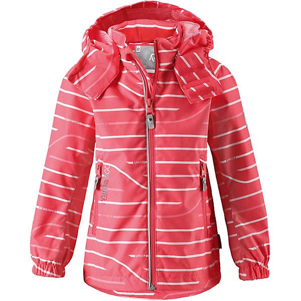 Куртка Kelluu ReimaОдежда<br>Характеристики товара:<br><br>• цвет: розовый;<br>• состав: 100% полиамид, полиуретановое покрытие;<br>• подкладка: 100% полиэстер;<br>• без дополнительного утепления;<br>• сезон: демисезон;<br>• температурный режим: от +5° до +15°С;<br>• водонепроницаемость: 15000 мм;<br>• воздухопроницаемость: 7000 мм;<br>• износостойкость: 40000 циклов (тест Мартиндейла);<br>• застёжка: молния с защитой подбородка;<br>• водо- и ветронепроницаемый, «дышащий» и грязеотталкивающий материал;<br>• водо- и грязеотталкивающая пропитка без содержания фторуглеродов BIONIC-FINISH®ECO;<br>• все швы проклеены и водонепроницаемы;<br>• подкладка из mesh-сетки;<br>• безопасный, съёмный и регулируемый капюшон;<br>• эластичные манжеты на рукавах;<br>• регулируемый подол;<br>• внутренний нагрудный карман в моделях 104 размера и более;<br>• карман со специальными креплениями для сенсора ReimaGO® в моделях 104 размера и более;<br>• два кармана на молнии;<br>• светоотражающие детали;<br>• страна бренда: Финляндия.<br><br>Абсолютно водо- и ветронепроницаемая демисезонная куртка Reimatec®. Все швы в ней запаяны, а сама она снабжена множеством практичных деталей, например, съемным капюшоном, который легко отстегивается, если за что-нибудь зацепится. Эластичные манжеты и регулируемый подол не пропускают ветер. Ну а карманы на молнии надежно сохранят ключи от дома и найденные на прогулке сокровища. В этой куртке даже дождь не помешает веселым играм на улице!<br><br>Куртку Reima от финского бренда Reima (Рейма) можно купить в нашем интернет-магазине.<br>Ширина мм: 356; Глубина мм: 10; Высота мм: 245; Вес г: 519; Цвет: красный; Возраст от месяцев: 36; Возраст до месяцев: 48; Пол: Унисекс; Возраст: Детский; Размер: 104,140,134,128,122,116,110; SKU: 7632468;