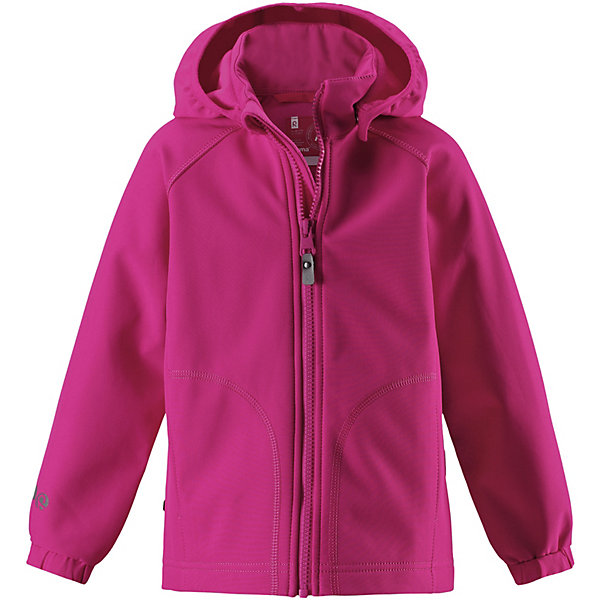 Куртка ReimaОдежда<br>Куртка Reima <br>Детская классическая куртка изготовлена из водо- и ветронепроницаемого материала softshell с грязеотталкивающей поверхностью. Эта демисезонная куртка станет идеальным выбором для холодных весенних и осенних дней. Мягкий и эластичный материал softshell дарит ощущение комфорта. В двух карманах найдется место для всех мелочей. Благодаря эластичным сборкам на рукавах и подоле куртка отлично сидит. Без подкладки.<br>Состав:<br>95% Полиэстер, 5% эластан, полиуретановое покрытие<br>Ширина мм: 356; Глубина мм: 10; Высота мм: 245; Вес г: 519; Цвет: розовый; Возраст от месяцев: 36; Возраст до месяцев: 48; Пол: Унисекс; Возраст: Детский; Размер: 104,98,110,116,122,128,134,140; SKU: 7632692;