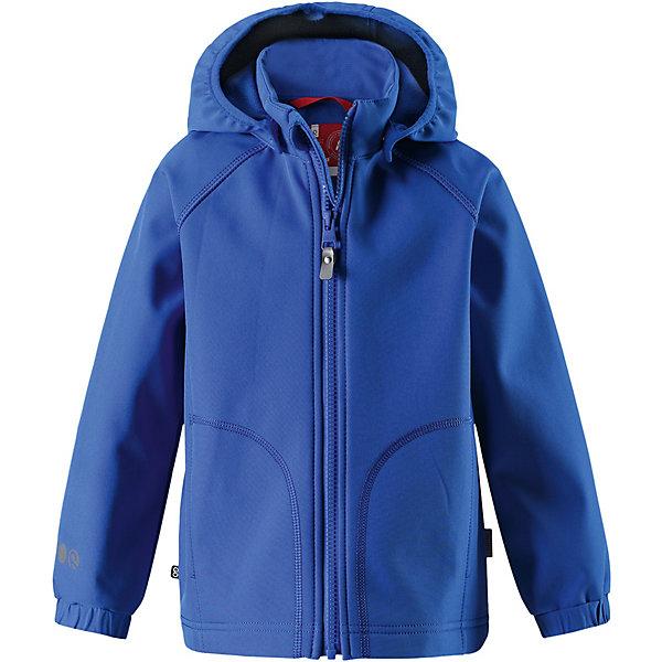 Куртка Vantti ReimaОдежда<br>Характеристики товара:<br><br>• цвет: синий;<br>• состав: 95% полиэстер, 5% эластан, полиуретановое покрытие;<br>• подкладка: 100% полиэстер, флис;<br>• без дополнительного утепления;<br>• сезон: демисезон;<br>• температурный режим: от +5° до +15°С;<br>• водонепроницаемость: 3000 мм;<br>• воздухопроницаемость: 3000 мм;<br>• застёжка: молния с защитой подбородка;<br>• куртка из материала softshell для детей;<br>• водонепроницаемый материал;<br>• из ветронепроницаемого материала, но изделие «дышит»;<br>• водо- и грязеотталкивающая пропитка без содержания фторуглеродов BIONIC-FINISH®ECO;<br>• безопасный съёмный капюшон;<br>• эластичная резинка на кромке капюшона;<br>• эластичные манжеты на рукавах;<br>• карман со специальными креплениями для сенсора ReimaGO® в моделях 104 размера и более<br>• карман на молнии;<br>• светоотражающие детали;<br>• страна бренда: Финляндия.<br><br>Детская классическая куртка изготовлена из водо- и ветронепроницаемого материала softshell с грязеотталкивающей поверхностью. Эта демисезонная куртка станет идеальным выбором для холодных весенних и осенних дней. Мягкий и эластичный материал softshell дарит ощущение комфорта. В двух карманах найдется место для всех мелочей. Благодаря эластичным сборкам на рукавах и подоле куртка отлично сидит.<br><br>Куртку Reima от финского бренда Reima (Рейма) можно купить в нашем интернет-магазине.<br>Ширина мм: 308; Глубина мм: 249; Высота мм: 93; Вес г: 350; Цвет: синий; Возраст от месяцев: 36; Возраст до месяцев: 48; Пол: Унисекс; Возраст: Детский; Размер: 104,140,134,128,122,116,110; SKU: 7632701;