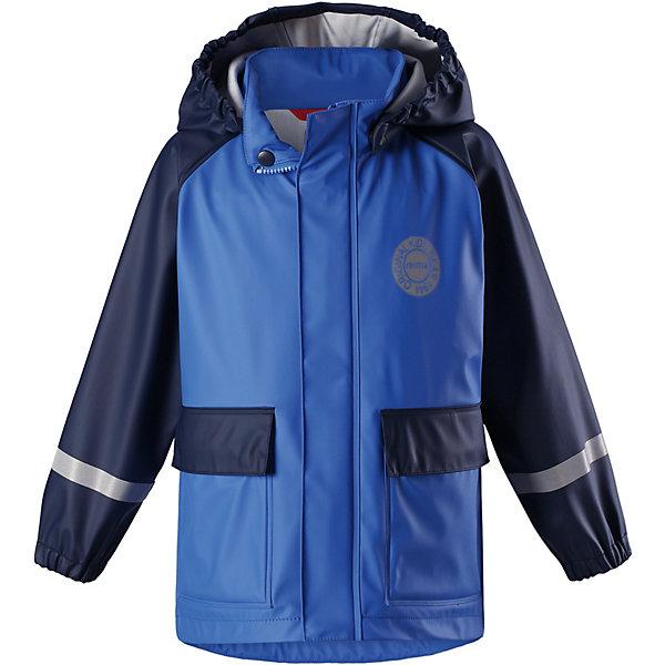 Куртка-дождевик Vihma ReimaОдежда<br>Плащ Reima <br>Детская куртка-дождевик Vihma в стиле ретро гарантирует: спина и плечи останутся сухими. Эластичный материал не твердеет на морозе, поэтому этот дождевик можно носить круглый год – просто добавьте в холодную погоду теплый промежуточный слой. Съемный капюшон защитит даже от ливня, при этом он безопасен во время прогулок в дождливый день. Материал сертифицирован по стандарту Oeko-Tex и не содержит ПВХ. Получите полную защиту от любой непогоды!<br>Состав:<br>100% Полиэстер, полиуретановое покрытие<br>Ширина мм: 9999; Глубина мм: 9999; Высота мм: 9999; Вес г: 9999; Цвет: синий; Возраст от месяцев: 108; Возраст до месяцев: 120; Пол: Унисекс; Возраст: Детский; Размер: 140,104,110,116,122,128,134; SKU: 7632734;