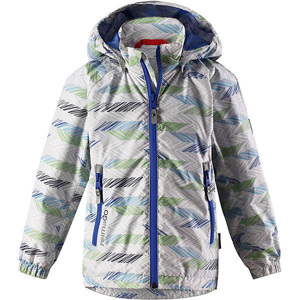 Куртка  ReimaОдежда<br>Куртка  Reima <br>Все основные швы в этой демисезонной детской куртке Reimatec® герметично запаяны, а сама она сшита из водо- и ветронепроницаемого, грязеотталкивающего, но при этом дышащего материала. Безопасный съемный капюшон легко отстегивается, если случайно за что-нибудь зацепится. За счет регулируемых манжет и подола куртка будет отлично сидеть, а два кармана на молнии пригодятся для хранения разных мелочей.<br>Состав:<br>100% Полиэстер, полиуретановое покрытие<br>Ширина мм: 356; Глубина мм: 10; Высота мм: 245; Вес г: 519; Цвет: серый; Возраст от месяцев: 18; Возраст до месяцев: 24; Пол: Унисекс; Возраст: Детский; Размер: 92,140,134,128,122,116,110,104,98; SKU: 7632762;