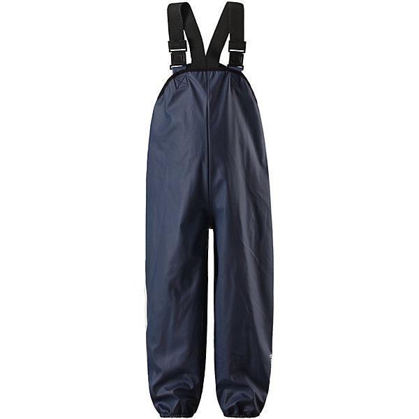 Непромокаемые брюки Lammikko ReimaОдежда<br>Характеристики товара:<br><br>• цвет: синий;<br>• состав: 100% полиамид, полиуретановое покрытие;<br>• без подкладки;<br>• без дополнительного утепления;<br>• сезон: демисезон;<br>• водонепроницаемость: 10000 мм;<br>• застёжка: без застёжки;<br>• запаянные швы, не пропускающие влагу;<br>• эластичный материал;<br>• без ПВХ;<br>• регулируемый обхват талии;<br>• эластичные манжеты на брючинах;<br>• съёмные эластичные штрипки;<br>• регулируемые подтяжки;<br>• светоотражающие детали;<br>• страна бренда: Финляндия.<br><br>Дети и лужи – отличное сочетание! Но только если дети хорошо защищены. Эти классические брюки для дождливой погоды гарантируют полную защиту. Материал – мягкий, но водонепроницаемый и грязеотталкивающий. К тому же он не «деревенеет» на морозе, поэтому брюки можно носить круглый год. Швы запаяны и абсолютно водонепроницаемы. Удобные эластичные подтяжки удерживают брюки во время активных игр, а штрипки не дадут брючинам задираться на голенищах резиновых сапог. Без подкладки.<br><br>Брюки Reima от финского бренда Reima (Рейма) можно купить в нашем интернет-магазине.<br>Ширина мм: 215; Глубина мм: 88; Высота мм: 191; Вес г: 336; Цвет: синий; Возраст от месяцев: 6; Возраст до месяцев: 9; Пол: Унисекс; Возраст: Детский; Размер: 74,128,122,116,110,104,98,92,86,80; SKU: 7633003;