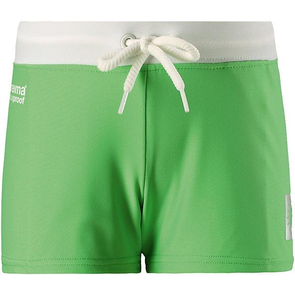Плавки Tonga Reima для мальчикаКупальники и плавки<br>Характеристики товара:<br><br>• цвет: зелёный;<br>• состав: 80% полиамид, 20% эластан;<br>• сезон: лето;<br>• плавательные шорты для детей SunProof;<br>• фактор защиты от ультрафиолета 50+;<br>• эластичная подкладка спереди;<br>• Reima SunProof®;<br>• регулируемый пояс со шнурком;<br>• страна бренда: Финляндия.<br><br>Короткие шорты для плавания для детей сделаны из материала SunProof с УФ-фильтром 50+. Подходят как для купания, так и для игр на солнце. Шорты – эластичные и быстро сохнущие. Эластичная подкладка спереди привнесет дополнительный комфорт. Пояс на шнурке можно регулировать для хорошей, индивидуальной посадки по фигуре.<br><br>Плавки Reima от финского бренда Reima (Рейма) можно купить в нашем интернет-магазине.<br>Ширина мм: 183; Глубина мм: 60; Высота мм: 135; Вес г: 119; Цвет: зеленый; Возраст от месяцев: 108; Возраст до месяцев: 120; Пол: Мужской; Возраст: Детский; Размер: 140,134,128,122,116,110,104,98,92; SKU: 7633154;