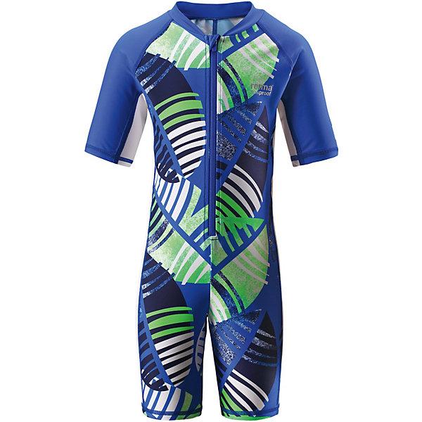 Купальный костюм Galapagos ReimaОдежда<br>Характеристики товара:<br><br>• цвет: синий принт;<br>• состав: 80% Полиамид, 20% эластан;<br>• сезон: лето;<br>• застёжка: молния с защитой подбородка;<br>• купальный комбинезон для малышей SunProof;<br>• рукава до локтей и штанины до колен;<br>• фактор защиты от ультрафиолета 50+;<br>• Reima SunProof®;<br>• полуавтоматическая застежка на молнии, защищающая от случайного открытия;<br>• принт по всей поверхности;<br>• страна бренда: Финляндия.<br><br>Этот цельный купальный костюм сделает принятие солнечных ванн безопасными. Купальный костюм для детей из материала SunProof предназначен как для веселых плесканий в воде, так и для игр на пляже. Купальный костюм обеспечивает эффективную защиту от вредных солнечных лучей вплоть до локтей и колен благодаря УФ-фильтру 50+. Еще этот эластичный материал быстро сохнет, а молния спереди облегчает процесс одевания.<br><br>Купальный костюм Reima от финского бренда Reima (Рейма) можно купить в нашем интернет-магазине.<br>Ширина мм: 183; Глубина мм: 60; Высота мм: 135; Вес г: 119; Цвет: синий; Возраст от месяцев: 84; Возраст до месяцев: 96; Пол: Унисекс; Возраст: Детский; Размер: 128,140,134,122,116,110,104,98,92; SKU: 7633352;