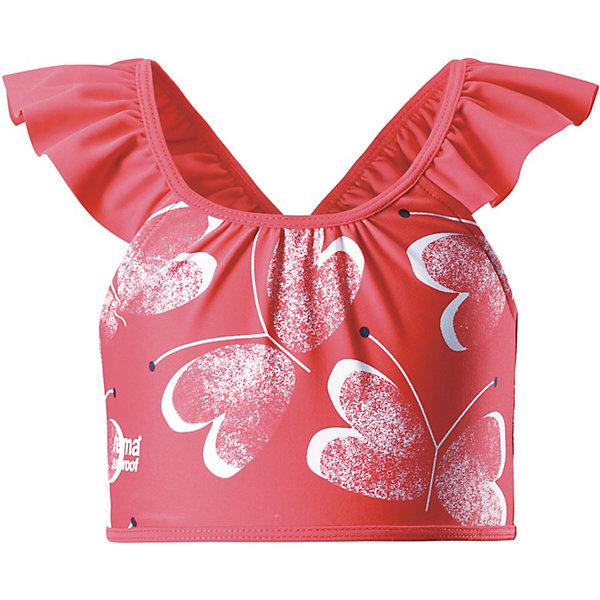Купальник Reima для девочкиОдежда<br>Купальник Reima для девочки<br>Верх бикини для девочек с симпатичной оборкой и ярким сплошным рисунком. Этот топ, изготовленный из солнцезащитного материала SunProof с фактором УФ-защиты 50+, очень быстро сохнет. Эластичная подкладка на передней части обеспечивает дополнительный комфорт во время плавания и веселых игр на пляже. Комбинируйте его с плавками-бикини той же расцветки – и ваша русалочка будет просто неотразима!<br>Состав:<br>80% Полиамид, 20% эластан<br>Ширина мм: 183; Глубина мм: 60; Высота мм: 135; Вес г: 119; Цвет: красный; Возраст от месяцев: 18; Возраст до месяцев: 24; Пол: Женский; Возраст: Детский; Размер: 92,140,134,128,122,116,110,104,98; SKU: 7633402;
