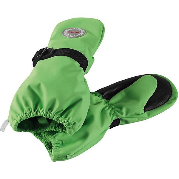 Варежки ReimaПерчатки и варежки<br>Варежки Reima <br>Водонепроницаемые варежки со съемной флисовой подкладкой для малышей и детей постарше. Сшиты из материала с высокими водонепроницаемыми характеристиками, ветронепроницаемого и дышащего. Варежки подшиты подкладкой из полиэстера с начесом и идут в комплекте со съемной флисовой подкладкой, которую можно поддевать в холода. Они снабжены усилениями на ладони и на большом пальце, которые обеспечивают дополнительную прочность и позволяют крепко держать в руках разные сокровища, найденные во время приключений на природе. Спереди они снабжены удобной застежкой на липучке.<br>Состав:<br>100% Полиэстер, полиуретановое покрытие<br>Ширина мм: 162; Глубина мм: 171; Высота мм: 55; Вес г: 119; Цвет: зеленый; Возраст от месяцев: 6; Возраст до месяцев: 18; Пол: Унисекс; Возраст: Детский; Размер: 1,5,4,3,2; SKU: 7633508;