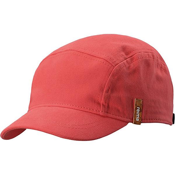 Шапка ReimaШапки и шарфы<br>Шапка Reima <br>Детская кепка из хлопковой саржи. Козырек защищает глаза от солнца. Забавный рисунок или свежая однотонная расцветка?<br>Состав:<br>100% Хлопок<br>Ширина мм: 89; Глубина мм: 117; Высота мм: 44; Вес г: 155; Цвет: красный; Возраст от месяцев: 60; Возраст до месяцев: 72; Пол: Унисекс; Возраст: Детский; Размер: 56,48,52; SKU: 7633757;