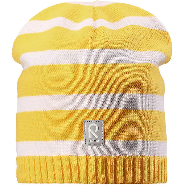 Шапка ReimaШапки и шарфы<br>Шапка Reima <br>Классическая хлопковая шапка просто незаменима в прохладную весеннюю пору!  Эта детская шапка сшита из эластичного и дышащего хлопкового трикотажа на полуподкладке из гладкого хлопкового джерси. Множество новых расцветок – выбирай себе по душе!<br>Состав:<br>100% Хлопок<br>Ширина мм: 89; Глубина мм: 117; Высота мм: 44; Вес г: 155; Цвет: желтый; Возраст от месяцев: 84; Возраст до месяцев: 144; Пол: Унисекс; Возраст: Детский; Размер: 56,48,52; SKU: 7633777;