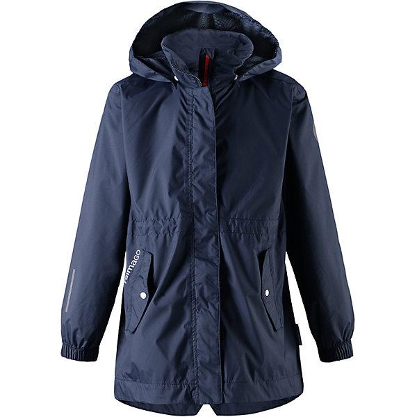 Куртка Marine Reimatec® Reima для девочкиДемисезонные куртки<br>Характеристики товара:<br><br>• цвет: тёмно-синий;<br>• состав: 100% полиамид, полиуретановое покрытие;<br>• подкладка: 100% полиэстер;<br>• без дополнительного утепления;<br>• сезон: демисезон;<br>• температурный режим: от +5° до +15°С;<br>• водонепроницаемость: 5000 мм;<br>• воздухопроницаемость: 5000 мм;<br>• износостойкость: 11000 циклов (тест Мартиндейла);<br>• застёжка: молния с защитой подбородка;<br>• все швы проклеены и водонепроницаемы;<br>• ветронепроницаемый дышащий материал;<br>• водо- и грязеотталкивающая пропитка без содержания фторуглеродов BIONIC-FINISH®ECO;<br>• подкладка из mesh-сетки;<br>• безопасный съёмный и регулируемый капюшон;<br>• эластичные манжеты на рукавах;<br>• регулируемый обхват талии;<br>• карман с креплениями для сенсора ReimaGO®;<br>• карманы на молнии;<br>• светоотражающие детали;<br>• страна бренда: Финляндия.<br><br>Перед вами отличная куртка для игр на улице и прогулок по городу! Куртка Reimatec® изготовлена из водо- и ветронепроницаемого материала, причем основные швы в ней запаяны и водонепроницаемы. Она снабжена множеством удобных деталей: безопасным съемным капюшоном, эластичными манжетами, регулируемой талией и карманами с клапаном.<br><br>Куртку Reima от финского бренда Reima (Рейма) можно купить в нашем интернет-магазине.<br>Ширина мм: 356; Глубина мм: 10; Высота мм: 245; Вес г: 519; Цвет: синий; Возраст от месяцев: 108; Возраст до месяцев: 120; Пол: Женский; Возраст: Детский; Размер: 140,164,158,152,146,134,128,122,116,110,104; SKU: 7634052;