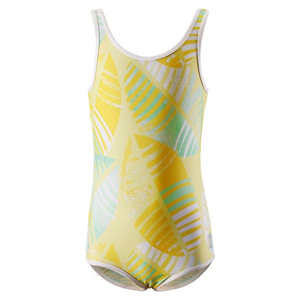 Купальный костюм Sumatra Reima для девочкиОдежда<br>Характеристики товара:<br><br>• цвет: жёлтый;<br>• состав: 80% Полиамид, 20% эластан;<br>• сезон: лето;<br>• без застёжки;<br>• фактор защиты от ультрафиолета 50+;<br>• эластичная подкладка спереди;<br>• Reima SunProof®;<br>• эластичная сборка на шее, проймах и вырезах для ног;<br>• принт по всей поверхности;<br>• страна бренда: Финляндия.<br><br>Спортивный купальный костюм для девочек ярких, пестрых расцветок. Сделанный из материала SunProof с УФ-фильтром 50+, этот купальный костюм для детей быстро сохнет. Эластичная подкладка спереди обеспечивает дополнительный комфорт во время купания и веселых игр на пляже.<br><br>Купальный костюм Reima от финского бренда Reima (Рейма) можно купить в нашем интернет-магазине.<br>Ширина мм: 183; Глубина мм: 60; Высота мм: 135; Вес г: 119; Цвет: желтый; Возраст от месяцев: 36; Возраст до месяцев: 48; Пол: Женский; Возраст: Детский; Размер: 104,164,158,152,146,140,134,128,122,116,110; SKU: 7634135;
