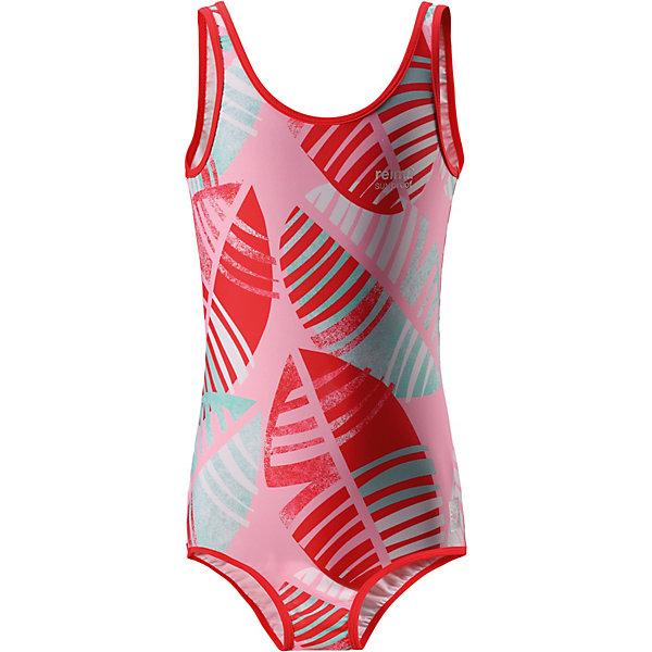 Купальный костюм Sumatra Reima для девочкиКупальники и плавки<br>Характеристики товара:<br><br>• цвет: розовый принт;<br>• состав: 80% Полиамид, 20% эластан;<br>• сезон: лето;<br>• без застёжки;<br>• фактор защиты от ультрафиолета 50+;<br>• эластичная подкладка спереди;<br>• Reima SunProof®;<br>• эластичная сборка на шее, проймах и вырезах для ног;<br>• принт по всей поверхности;<br>• страна бренда: Финляндия.<br><br>Спортивный купальный костюм для девочек ярких, пестрых расцветок. Сделанный из материала SunProof с УФ-фильтром 50+, этот купальный костюм для детей быстро сохнет. Эластичная подкладка спереди обеспечивает дополнительный комфорт во время купания и веселых игр на пляже.<br><br>Купальный костюм Reima от финского бренда Reima (Рейма) можно купить в нашем интернет-магазине.<br>Ширина мм: 183; Глубина мм: 60; Высота мм: 135; Вес г: 119; Цвет: красный; Возраст от месяцев: 36; Возраст до месяцев: 48; Пол: Женский; Возраст: Детский; Размер: 104,164,158,152,146,140,134,110,116,122,128; SKU: 7634147;