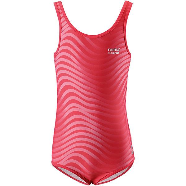 Купальный костюм Sumatra Reima для девочкиКупальники и плавки<br>Характеристики товара:<br><br>• цвет: розовый;<br>• состав: 80% Полиамид, 20% эластан;<br>• сезон: лето;<br>• без застёжки;<br>• фактор защиты от ультрафиолета 50+;<br>• эластичная подкладка спереди;<br>• Reima SunProof®;<br>• эластичная сборка на шее, проймах и вырезах для ног;<br>• принт по всей поверхности;<br>• страна бренда: Финляндия.<br><br>Спортивный купальный костюм для девочек ярких, пестрых расцветок. Сделанный из материала SunProof с УФ-фильтром 50+, этот купальный костюм для детей быстро сохнет. Эластичная подкладка спереди обеспечивает дополнительный комфорт во время купания и веселых игр на пляже.<br><br>Купальный костюм Reima от финского бренда Reima (Рейма) можно купить в нашем интернет-магазине.<br>Ширина мм: 183; Глубина мм: 60; Высота мм: 135; Вес г: 119; Цвет: красный; Возраст от месяцев: 36; Возраст до месяцев: 48; Пол: Женский; Возраст: Детский; Размер: 104,158,152,146,140,134,128,122,116,110; SKU: 7634159;