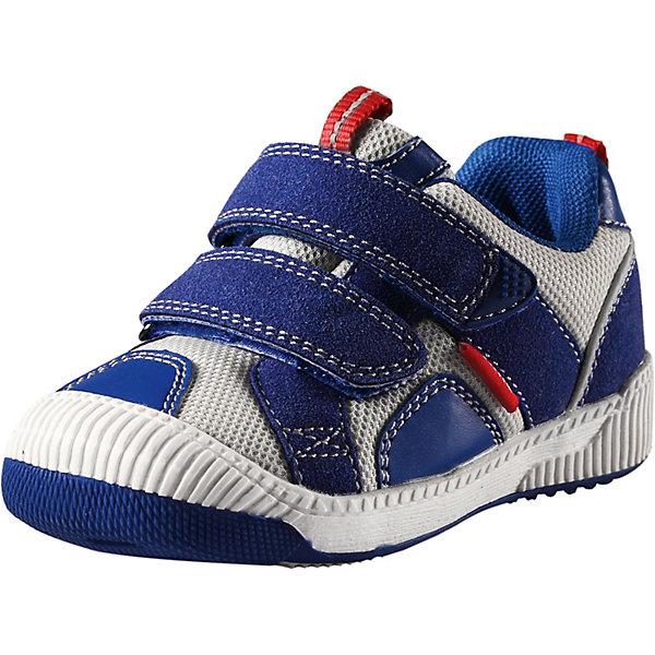 Ботинки Knappe ReimaОбувь<br>Ботинки Reima <br>Эти легкие, гибкие и дышащие ботинки для малышей очень практичны, ведь их можно носить с весны и до осени. Они подойдут и для игр на детской площадке, и для прогулок по городу, и даже для турпохода. Подошва из термопластичной резины нигде не будет скользить. Верх изготовлен из грязеотталкивающего синтетического материала и текстиля с мягкой текстильной подкладкой внутри. Специальная конструкция этих ботинок разработана, чтобы поддерживать нормальное развитие детской стопы, а съемные стельки с рисунком Happy Fit® помогут подобрать правильный размер. Благодаря регулируемым ремешкам на липучке, малыши смогут надеть эти ботинки сами. Обратите внимание! Эти ботинки можно стирать в стиральной машине при 30°.<br>Состав:<br>Подошва: Термо Пластичная Резина Верх: 70% Полиэстер, 30% Полиуретан Стелька: 100% Этиленвинилацетат Подкладка: 100% Полиэстер<br>Ширина мм: 250; Глубина мм: 150; Высота мм: 150; Вес г: 250; Цвет: синий; Возраст от месяцев: 36; Возраст до месяцев: 48; Пол: Унисекс; Возраст: Детский; Размер: 27,22,23,24,25,26; SKU: 7634306;