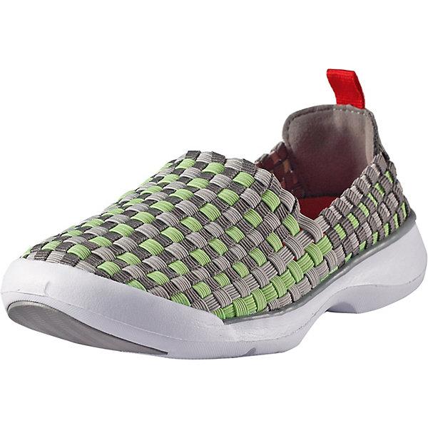 Кроссовки Fresh ReimaОбувь<br>Ботинки Reima <br>Перед вами самые удобные ботинки этого лета. Они сделаны из гибкого, эластичного и дышащего материала и пригодны для машинной стирки (при 30°). Эти ботинки быстро надеваются – никакой шнуровки и липучек. В подошве есть специальные отверстия для вентиляции, защищенные металлической сеткой и водонепроницаемой мембраной, – они не пропустят вовнутрь камешки, песок и воду, а ноги будут «дышать». Резиновое усиление на подошве не оставляет следов на полу, что очень практично во время морской прогулки или в помещении. Обувь снабжена уникальными съемными стельками Reima с принтом Happy Fit, которые помогают правильно определить размер.<br>Состав:<br>Подошва: Этиленвинилацетат/Термо Пластичная Резина Верх: 80% Полиэстер, 20% Эластан Стелька: 100% Этиленвинилацетат Подкладка: -<br>Ширина мм: 250; Глубина мм: 150; Высота мм: 150; Вес г: 250; Цвет: серый; Возраст от месяцев: 48; Возраст до месяцев: 60; Пол: Унисекс; Возраст: Детский; Размер: 28,38,37,36,35,34,33,32,31,30,29; SKU: 7634479;