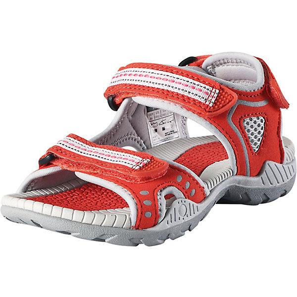 Сандалии Luft ReimaОбувь<br>Сандалии Reima <br>Эти спортивные детские сандалии легко надевать и легко отрегулировать нужный размер. Застежка на трех ремешках позволяет максимально удобно застегнуть сандалии точно по ноге. А благодаря лайкровой подкладке они очень удобны и не натирают. Легкая эргономичная конструкция поддерживает стопу, а подошва из ЭВА с термопластичной резиной не будет скользить на камнях и скользкой гальке.<br>Состав:<br>Подошва: Этиленвинилацетат/Термо Пластичная Резина Верх: 60% Полиуретан, 40% Полиэстер Стелька: 100% Этиленвинилацетат Подкладка: 100% Полиэстер<br>Ширина мм: 219; Глубина мм: 154; Высота мм: 121; Вес г: 343; Цвет: красный; Возраст от месяцев: 156; Возраст до месяцев: 1188; Пол: Унисекс; Возраст: Детский; Размер: 38,37,28,29,30,31,32,33,34,35,36; SKU: 7634491;