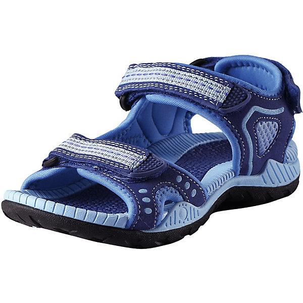 Сандалии Luft ReimaОбувь<br>Сандалии Reima <br>Эти спортивные детские сандалии легко надевать и легко отрегулировать нужный размер. Застежка на трех ремешках позволяет максимально удобно застегнуть сандалии точно по ноге. А благодаря лайкровой подкладке они очень удобны и не натирают. Легкая эргономичная конструкция поддерживает стопу, а подошва из ЭВА с термопластичной резиной не будет скользить на камнях и скользкой гальке.<br>Состав:<br>Подошва: Этиленвинилацетат/Термо Пластичная Резина Верх: 60% Полиуретан, 40% Полиэстер Стелька: 100% Этиленвинилацетат Подкладка: 100% Полиэстер<br>Ширина мм: 219; Глубина мм: 154; Высота мм: 121; Вес г: 343; Цвет: синий; Возраст от месяцев: 156; Возраст до месяцев: 1188; Пол: Унисекс; Возраст: Детский; Размер: 38,28,29,30,31,32,33,34,35,36,37; SKU: 7634503;