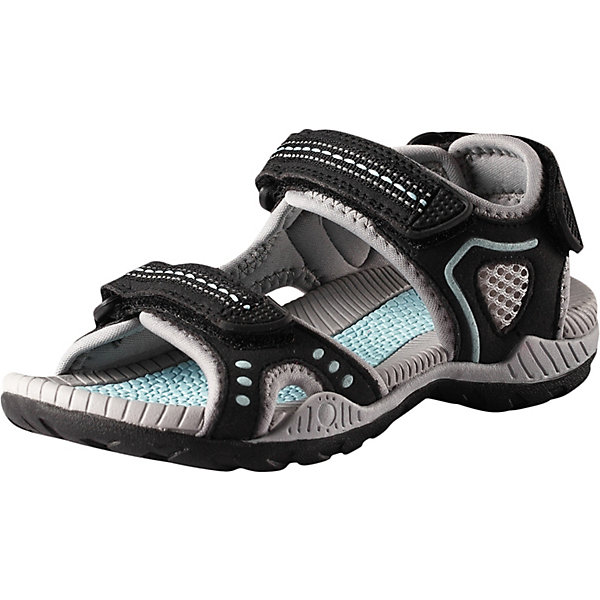 Сандалии Luft ReimaОбувь<br>Сандалии Reima <br>Эти спортивные детские сандалии легко надевать и легко отрегулировать нужный размер. Застежка на трех ремешках позволяет максимально удобно застегнуть сандалии точно по ноге. А благодаря лайкровой подкладке они очень удобны и не натирают. Легкая эргономичная конструкция поддерживает стопу, а подошва из ЭВА с термопластичной резиной не будет скользить на камнях и скользкой гальке.<br>Состав:<br>Подошва: Этиленвинилацетат/Термо Пластичная Резина Верх: 60% Полиуретан, 40% Полиэстер Стелька: 100% Этиленвинилацетат Подкладка: 100% Полиэстер<br>Ширина мм: 219; Глубина мм: 154; Высота мм: 121; Вес г: 343; Цвет: черный; Возраст от месяцев: 48; Возраст до месяцев: 60; Пол: Унисекс; Возраст: Детский; Размер: 28,38,37,36,35,34,33,32,31,30,29; SKU: 7634515;
