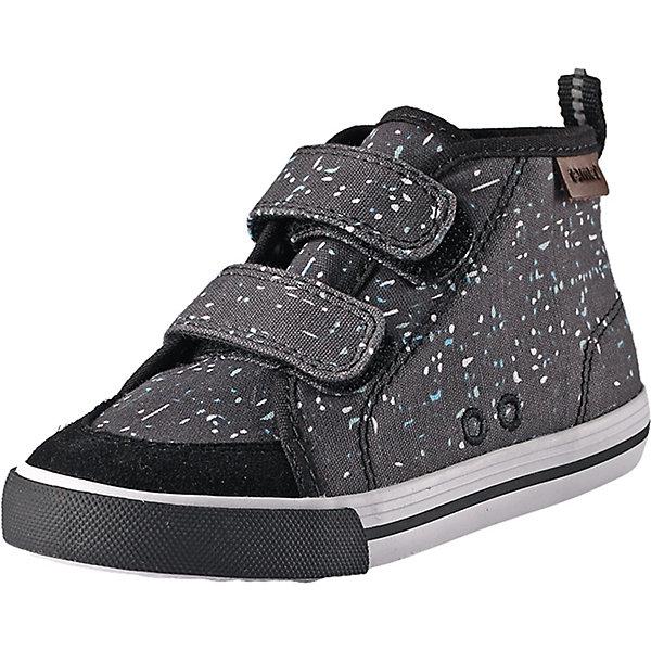 Ботинки ReimaОбувь<br>Ботинки Reima <br>Стильные детские кроссовки для городских приключений. Верх кроссовок сделан из замши и текстиля, а резиновая подошва обеспечивает отличное сцепление с поверхностью. Они снабжены очень удобной двойной застежкой на липучке, так что дети смогут легко обуться без помощи мамы или папы.<br>Состав:<br>Подошва: Резина Верх: 90% Хлопок, 10% Кожа Стелька: 100% Этиленвинилацетат Подкладка: 100% Хлопок<br>Ширина мм: 250; Глубина мм: 150; Высота мм: 150; Вес г: 250; Цвет: черный; Возраст от месяцев: 96; Возраст до месяцев: 108; Пол: Унисекс; Возраст: Детский; Размер: 32,23,35,34,33,31,30,29,28,27,26,25,24; SKU: 7634713;
