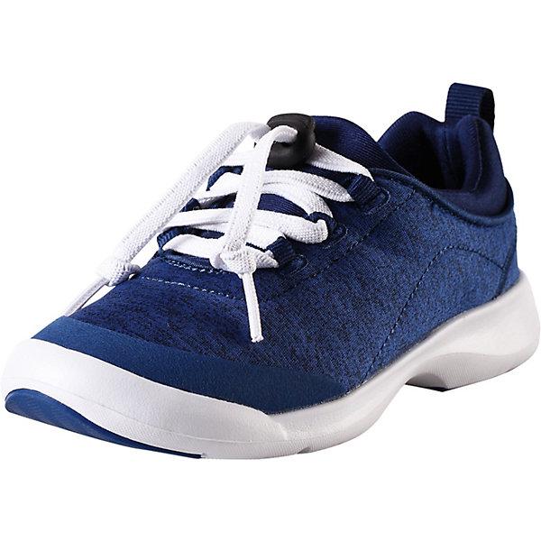 Ботинки ReimaКроссовки<br>Ботинки Reima <br>Эти детские кроссовки созданы специально для бега и прыжков! У них текстильный верх и легкая, гибкая и дышащая подошва, снабженная резиновыми усилениями. К тому же она немаркирующая, а значит кроссовки можно надевать и в спортзал. За счет моющихся материалов и гладкой, не натирающей подкладке их действительно удобно носить – даже без носков!<br>Состав:<br>Подошва: Этиленвинилацетат/Термо Пластичная Резина Верх: 90% Полиэстер, 5% Хлопок, 5% Эластан Стелька: 100% Этиленвинилацетат Подкладка: 90% Полиэстер, 10% Эластан<br>Ширина мм: 250; Глубина мм: 150; Высота мм: 150; Вес г: 250; Цвет: синий; Возраст от месяцев: 48; Возраст до месяцев: 60; Пол: Унисекс; Возраст: Детский; Размер: 28,38,37,36,35,34,33,32,31,30,29; SKU: 7634739;