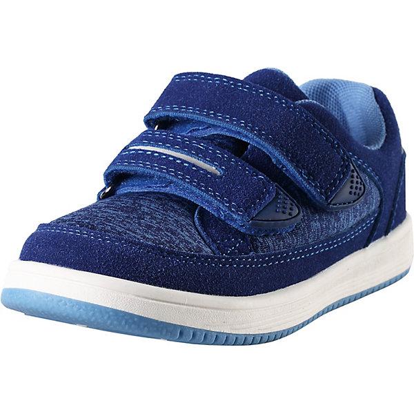 Ботинки ReimaКроссовки<br>Ботинки Reima <br>Легкие, гибкие и дышащие демисезонные ботинки для малышей и детей постарше. Эти ботинки очень практичны, ведь их можно надеть куда угодно — и на детскую площадку, и на прогулку по городу. Подошва из термопластичной резины нигде не будет скользить. Благодаря регулируемым ремешкам на липучке малыши смогут надеть эти ботинки сами. Верх изготовлен из грязеотталкивающего синтетического материала и текстиля с мягкой текстильной подкладкой внутри. Съемные стельки с рисунком Happy Fit помогут подобрать нужный размер. ботинки пригодны для машинной стирки при 30°. Эти стильные и яркие ботинки со светоотражателями легко сочетаются с остальной верхней одеждой Reima®.<br>Состав:<br>Подошва: Термо Пластичная Резина Верх: 60% Полиуретан, 40% Полиэстер Стелька: 100% Этиленвинилацетат Подкладка: 100% Полиэстер<br>Ширина мм: 250; Глубина мм: 150; Высота мм: 150; Вес г: 250; Цвет: синий; Возраст от месяцев: 132; Возраст до месяцев: 144; Пол: Унисекс; Возраст: Детский; Размер: 35,24,25,26,27,28,29,30,31,32,33,34; SKU: 7634947;