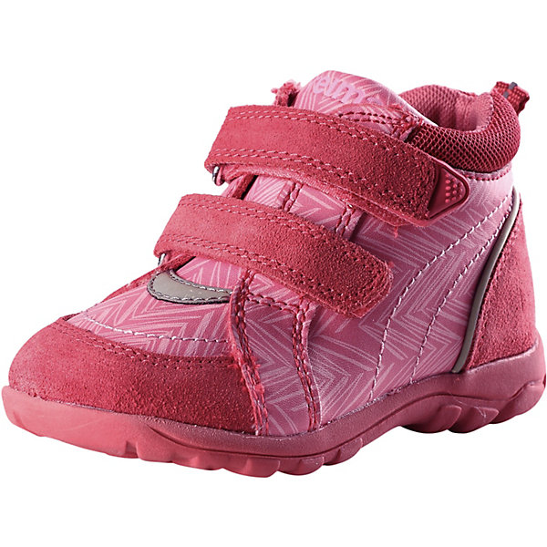 Ботинки ReimaОбувь<br>Ботинки Reima <br>Эти суперлегкие детские туфли Reima® специально созданы для беззаботных летних дней. Туфли изготовлены из простого в уходе и дышащего материала, а еще в них множество классных и практичных деталей! В резиновой подошве с металлической сеткой не застрянут песок и камешки, она очень износостойкая и не оставляет следов на полу — отличный выбор для маленьких моряков и  активных пляжников! Эластичная шнуровка упрощает обувание, а бесшовная лайкровая подкладка обеспечивает дополнительный комфорт — туфли удобно носить даже на босую ногу. Хорошая новость для мам и пап: эти туфли можно стирать в стиральной машине, просто выбирайте программу деликатной стирки. <br>Состав:<br>Подошва: Термо Пластичная Резина, Верх: 60%Полиуретан, 30%Кожа, 10%Полиэстер Стелька: 90%Этиленвинилацетат, 10%Полиэстер<br>Ширина мм: 250; Глубина мм: 150; Высота мм: 150; Вес г: 250; Цвет: красный; Возраст от месяцев: 9; Возраст до месяцев: 12; Пол: Унисекс; Возраст: Детский; Размер: 20,27,26,25,24,23,22,21; SKU: 7634973;