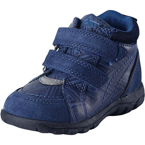 Ботинки ReimaОбувь<br>Ботинки Reima <br>Эти суперлегкие детские туфли Reima® специально созданы для беззаботных летних дней. Туфли изготовлены из простого в уходе и дышащего материала, а еще в них множество классных и практичных деталей! В резиновой подошве с металлической сеткой не застрянут песок и камешки, она очень износостойкая и не оставляет следов на полу — отличный выбор для маленьких моряков и  активных пляжников! Эластичная шнуровка упрощает обувание, а бесшовная лайкровая подкладка обеспечивает дополнительный комфорт — туфли удобно носить даже на босую ногу. Хорошая новость для мам и пап: эти туфли можно стирать в стиральной машине, просто выбирайте программу деликатной стирки. <br>Состав:<br>Подошва: Термо Пластичная Резина, Верх: 60%Полиуретан, 30%Кожа, 10%Полиэстер Стелька: 90%Этиленвинилацетат, 10%Полиэстер<br>Ширина мм: 250; Глубина мм: 150; Высота мм: 150; Вес г: 250; Цвет: синий; Возраст от месяцев: 9; Возраст до месяцев: 12; Пол: Унисекс; Возраст: Детский; Размер: 20,27,26,25,24,23,22,21; SKU: 7634982;