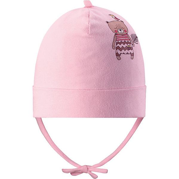 Шапка LassieШапки и шарфы<br>Характеристики товара:<br><br>• цвет: розовый;<br>• состав: 95% хлопок, 5% эластан;<br>• подкладка: 95% хлопок, 5% эластан;<br>• без дополнительного утепления;<br>• сезон: демисезон;<br>• температурный режим: от +5 до +15С;<br>• застёжка: шапка на завязках;<br>• лёгкий и удобный трикотаж;<br>• сплошная подкладка из материала джерси;<br>• декорирована рисунком;<br>• светоотражающие элементы;<br>• страна бренда: Финляндия.<br><br>Чудесная шапка для малышей в невероятно симпатичных расцветках! В качестве материала для верха и подкладки использован гладкий и удивительно мягкий на ощупь хлопковый джерси.<br><br>Шапку Lassie (Ласси) можно купить в нашем интернет-магазине.<br>Ширина мм: 89; Глубина мм: 117; Высота мм: 44; Вес г: 155; Цвет: розовый; Возраст от месяцев: 9; Возраст до месяцев: 12; Пол: Унисекс; Возраст: Детский; Размер: 42-44,50-52,46-48,44-46; SKU: 7635412;
