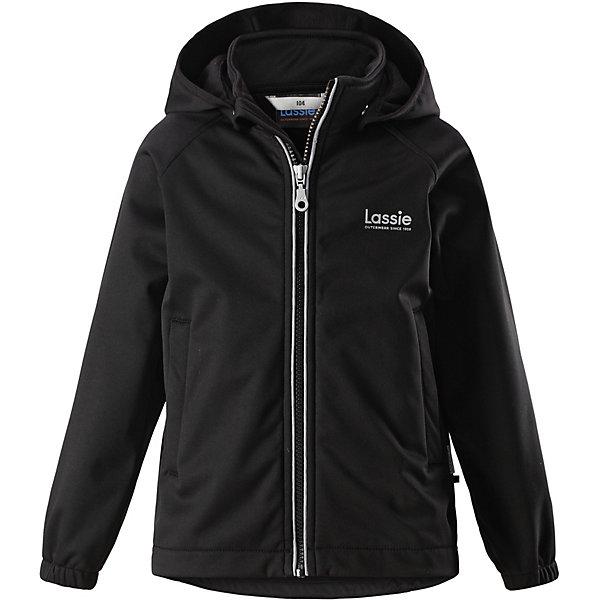 Куртка LassieОдежда<br>Характеристики товара:<br><br>• цвет: чёрный;<br>• состав: 100% полиэстер, полиуретановое покрытие;<br>• подкладка: 100% полиэстер, флис;<br>• без дополнительного утепления;<br>• сезон: демисезон;<br>• температурный режим: от +5° до +15°С;<br>• водонепроницаемость: 5000 мм;<br>• воздухопроницаемость: 4000 мм;<br>• застёжка: молния с защитой подбородка;<br>• из ветронепроницаемого материала, но изделие дышит;<br>• флис на оборотной стороне;<br>• безопасный съёмный капюшон;<br>• эластичная резинка на кромке капюшона;<br>• эластичные манжеты;<br>• два передних кармана;<br>• светоотражающие детали;<br>• страна бренда: Финляндия.<br><br>Эта функциональная демисезонная детская куртка пригодится вам и в ветреную, и в солнечную погоду. В ней ваш ребенок не вспотеет во время увлекательных прогулок – ему будет тепло и сухо. Она не пропускает ветер, но при этом дышит. Водонепроницаемый, многослойный материал с мягкой флисовой изнаночной стороной. Снабжена практичными деталями, например, двумя передними карманами, безопасным съемным капюшоном с эластичной сборкой по краю и эластичными манжетами, которые не пропускают ветер.<br><br>Куртку Lassie (Ласси) можно купить в нашем интернет-магазине.<br>Ширина мм: 356; Глубина мм: 10; Высота мм: 245; Вес г: 519; Цвет: черный; Возраст от месяцев: 18; Возраст до месяцев: 24; Пол: Унисекс; Возраст: Детский; Размер: 92,140,134,128,122,116,110,104,98; SKU: 7635621;
