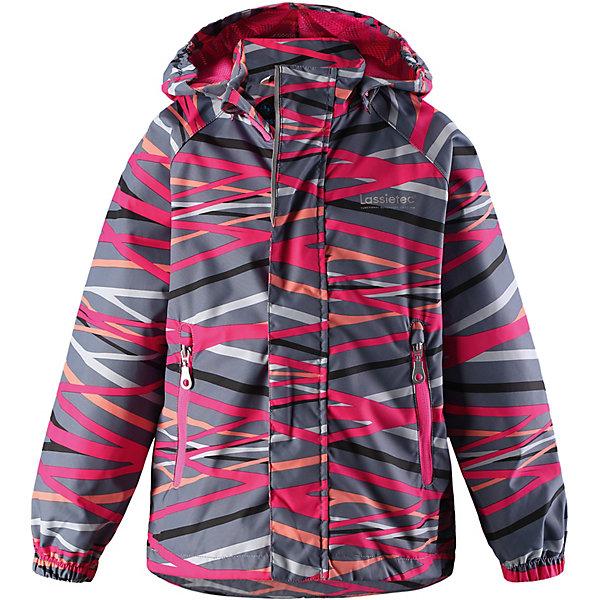 Куртка  LassieОдежда<br>Характеристики товара:<br><br>• цвет: розовый;<br>• состав: 100% полиэстер, полиуретановое покрытие;<br>• подкладка: 100% полиэстер;<br>• без дополнительного утепления;<br>• сезон: демисезон;<br>• температурный режим: от +5° до +15°С;<br>• водонепроницаемость: 5000 мм;<br>• воздухопроницаемость: 5000 мм;<br>• износостойкость: 20000 циклов (тест Мартиндейла);<br>• застёжка: молния с защитой подбородка;<br>• водо- и ветронепроницаемый, дышащий материал;<br>• внешние швы проклеены;<br>• гладкая подкладка из полиэстера;<br>• безопасный съёмный капюшон;<br>• эластичные манжеты;<br>• регулируемый подол;<br>• карманы на молнии;<br>• светоотражающие детали;<br>• страна бренда: Финляндия.<br><br>Детская демисезонная куртка Lassietec® с дышащей и комфортной сетчатой подкладкой. Для ее пошива мы использовали функциональный материал – водонепроницаемый, ветронепроницаемый и дышащий. Основные швы проклеены и водонепроницаемы, поэтому небольшой дождь не помешает веселой прогулке! Съемный капюшон защищает от холодного ветра, а еще обеспечивает дополнительную безопасность во время игр на улице — кнопки капюшона легко отстегнутся, если он, например, случайно зацепится за ветку. Куртка снабжена нагрудным карманом на молнии, карманами, вшитыми в швы.<br><br>Куртку Lassie (Ласси) можно купить в нашем интернет-магазине.<br>Ширина мм: 356; Глубина мм: 10; Высота мм: 245; Вес г: 519; Цвет: розовый; Возраст от месяцев: 18; Возраст до месяцев: 24; Пол: Унисекс; Возраст: Детский; Размер: 92,140,134,128,122,116,110,104,98; SKU: 7635641;
