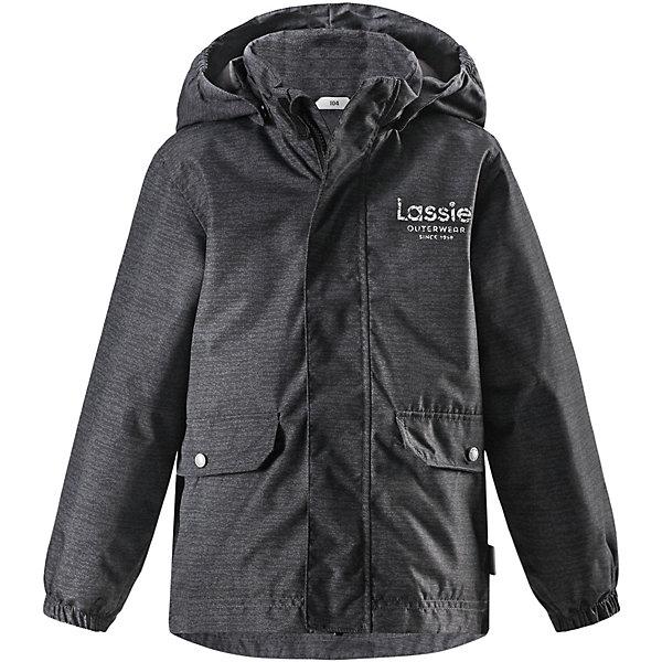 Куртка Lassie для мальчикаОдежда<br>Характеристики товара:<br><br>• цвет: серый;<br>• состав: 100% полиэстер, полиуретановое покрытие;<br>• подкладка: 100% полиэстер;<br>• утеплитель: 100% полиэстер, 80 гр м/2;<br>• сезон: демисезон;<br>• температурный режим: от +5° до +15°С;<br>• водонепроницаемость: 1000 мм;<br>• воздухопроницаемость: 2000 мм;<br>• износостойкость: 20000 циклов (тест Мартиндейла);<br>• застёжка: молния с защитой подбородка;<br>• водо- и  ветронепроницаемый, дышащий материал;<br>• удлинённая спинка;<br>• гладкая подкладка из полиэстера;<br>• безопасный съёмный капюшон;<br>• эластичные манжеты;<br>• карманы с клапанами;<br>• светоотражающие детали;<br>• страна бренда: Финляндия.<br><br>Демисезонная куртка для мальчиков защищает от ветра. Дышащий ветронепроницаемый материал имеет водоотталкивающую поверхность. Куртка подшита гладкой подкладкой из полиэстера на легком утеплителе. Практичные детали просто незаменимы: эластичные манжеты, светоотражающие элементы, безопасный съемный капюшон и два кармана с клапанами, которые превосходно вместят все самое важное. Эта куртка превосходно вам послужит и весной, и осенью!<br><br>Куртку Lassie (Ласси) можно купить в нашем интернет-магазине.<br>Ширина мм: 356; Глубина мм: 10; Высота мм: 245; Вес г: 519; Цвет: серый; Возраст от месяцев: 48; Возраст до месяцев: 60; Пол: Мужской; Возраст: Детский; Размер: 110,116,128,134,140,122,92,98,104; SKU: 7635701;