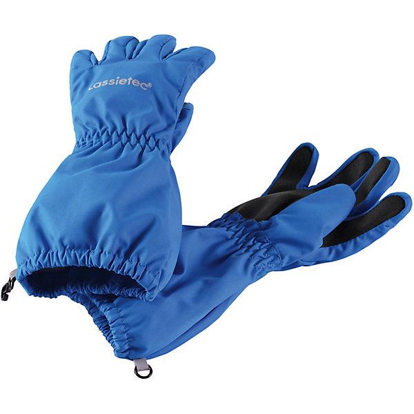 Перчатки Lassietec® LassieПерчатки и варежки<br>Характеристики товара:<br><br>• цвет: синий;<br>• состав: 100% полиэстер, полиуретановое покрытие;<br>• подкладка: 100% полиэстер с начёсом;<br>• без дополнительного утепления;<br>• сезон: демисезон;<br>• температурный режим: +5 до +15С;<br>• водонепроницаемость: 5000 мм;<br>• воздухопроницаемость: 5000 мм;<br>• износостойкость: 20000 циклов (тест Мартиндейла);<br>• без застёжки;<br>• водо- и ветронепроницаемый, дышащий материал;<br>• усиленные накладки на ладонях и кончиках пальцев;<br>• подкладка из полиэстера с начёсом;<br>• прочный материал;<br>• светоотражающие детали;<br>• страна бренда: Финляндия.<br><br>Прочные детские демисезонные перчатки для активных любителей приключений. Эти перчатки Lassietec® изготовлены из прочного, водонепроницаемого, ветронепроницаемого и дышащего материала. Варежки снабжены водонепроницаемой мембраной, которая обеспечит вашему ребенку долгие и сухие прогулки на свежем воздухе. Трикотажная подкладка из полиэстера с начесом очень мягкая и приятная на ощупь. Усиления на ладони, кончиках пальцев и большом пальце не пропускают влагу и обеспечивают хороший захват. Сверху украшены светоотражающим принтом<br><br>Перчатки Lassie (Ласси) можно купить в нашем интернет-магазине.<br>Ширина мм: 162; Глубина мм: 171; Высота мм: 55; Вес г: 119; Цвет: синий; Возраст от месяцев: 24; Возраст до месяцев: 48; Пол: Унисекс; Возраст: Детский; Размер: 3,5,6,4; SKU: 7635997;