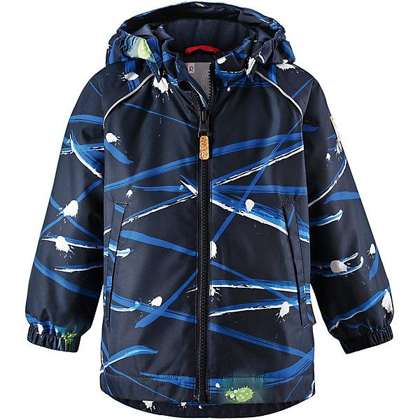 Куртка Hete ReimaВерхняя одежда<br>Куртка  Reima <br>Куртка Reimatec® станет отличным выбором на весну и осень. Все основные швы в этой куртке герметично запаяны, а сама она сшита из водо- и ветронепроницаемой и к тому же грязеотталкивающей ткани. Съемный капюшон безопасен во время игр на улице. А в небольших карманах все найденные драгоценные камешки и шишки будут в целости и сохранности.<br>Состав:<br>100% Полиэстер, полиуретановое покрытие<br>Ширина мм: 356; Глубина мм: 10; Высота мм: 245; Вес г: 519; Цвет: синий; Возраст от месяцев: 12; Возраст до месяцев: 15; Пол: Унисекс; Возраст: Детский; Размер: 80,98,92,86; SKU: 7636460;